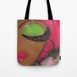 Pink and Green Sassy Girl Tote Bag