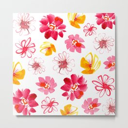 Spring Flower Medley Metal Print