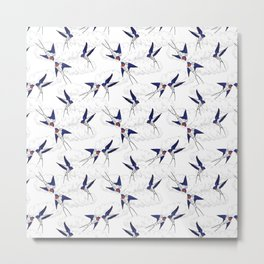 Swallows flying in the sky Metal Print