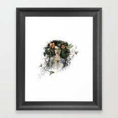 Hummingbird Hair Framed Art Print