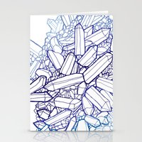 crystals Stationery Cards featuring Crystals by fossilized