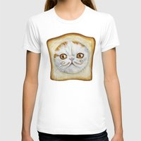 snoopy T-shirts featuring Snoopy aka Breadcat - Cats with Moustaches by Megan Mars