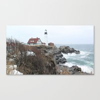 maine Canvas Prints featuring Maine  by L James M Arts