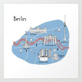Mapping Berlin - Original Art Print