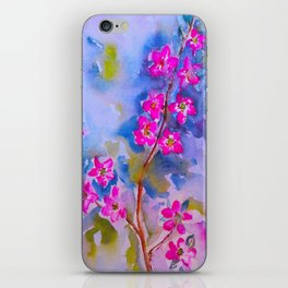 Watercolor Flowers iPhone Skin