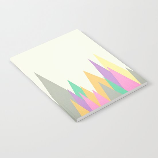 Pastel Peaks Notebook
