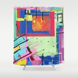 Superfly Muses No. 3 Contemporary Abstract Retro Shower Curtain