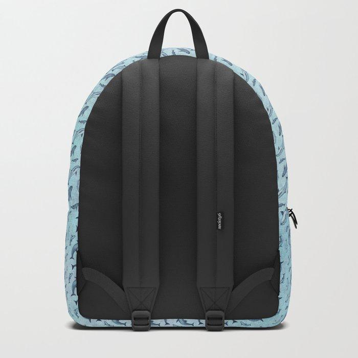 Pattern: Sea of Vaquita ~ (Watercolor Art, Copyright 2015) Backpack