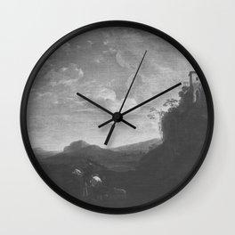 Jan Asselijn - Italianate Landscape Wall Clock