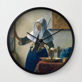 Johannes Vermeer - Woman with a Water Jug Wall Clock