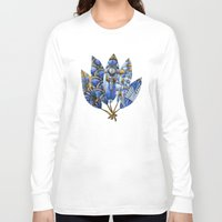 gatsby Long Sleeve T-shirts featuring Gatsby Five Feathers by Jennifer Lambein