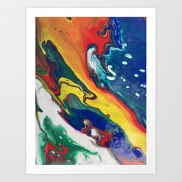 dirty pour ii Art Print