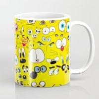 cartoon Mugs featuring Cartoon by Javier Martinez