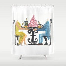Headlessly in Love Shower Curtain