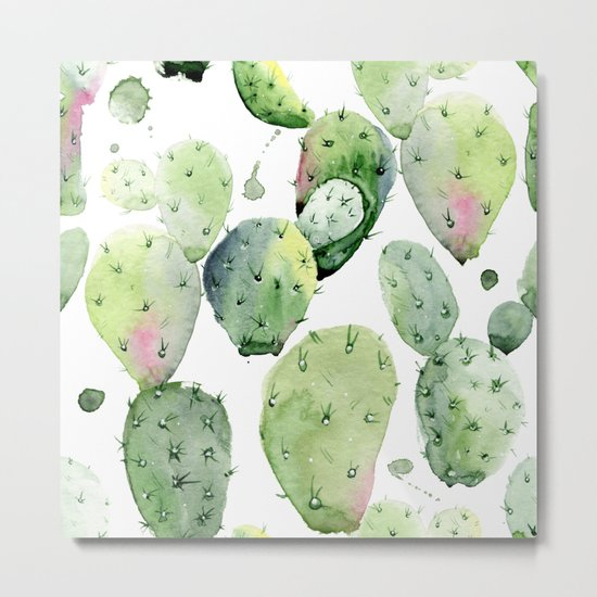 Cactus commotion Metal Print