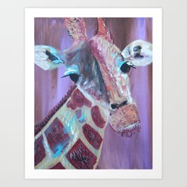 Gi Gi the Giraffe Art Print