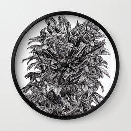 Lobelia Siphilitica Botanical Illustration in Dots Wall Clock