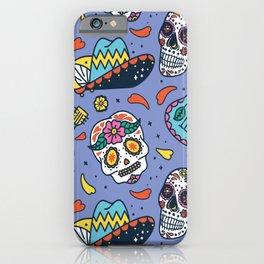 Mexico Pattern Dias De La Muerte iPhone Case