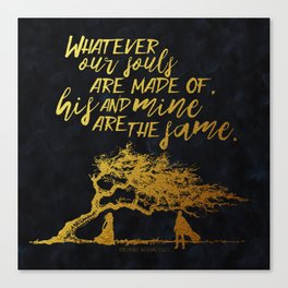 Wuthering Heights - Souls - Gold Foil Canvas Print
