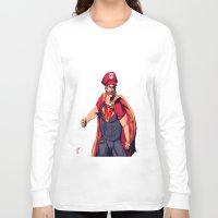 super mario Long Sleeve T-shirts featuring Super Mario by Mastodon