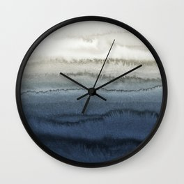 WITHIN THE TIDES - CRUSHING WAVES BLUE Wall Clock