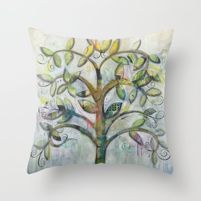 Tree Of Life Throw Pillow By Southernheartstudio