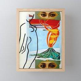 Nurture vs Nature I (Fire) Framed Mini Art Print