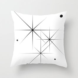Silent Explosions Throw Pillow