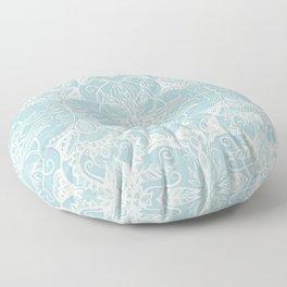 Floral Pattern in Duck Egg Blue & Cream Floor Pillow
