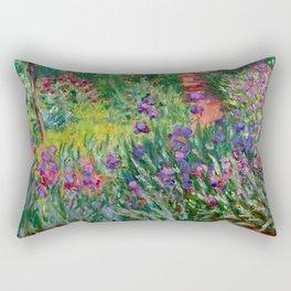 "Claude Monet ""The Iris Garden at Giverny"", 1899-1900 Rectangular Pillow"