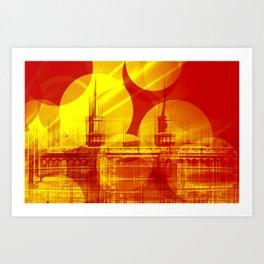 The Oberbaum Bridge  Berlin Collage Art Print