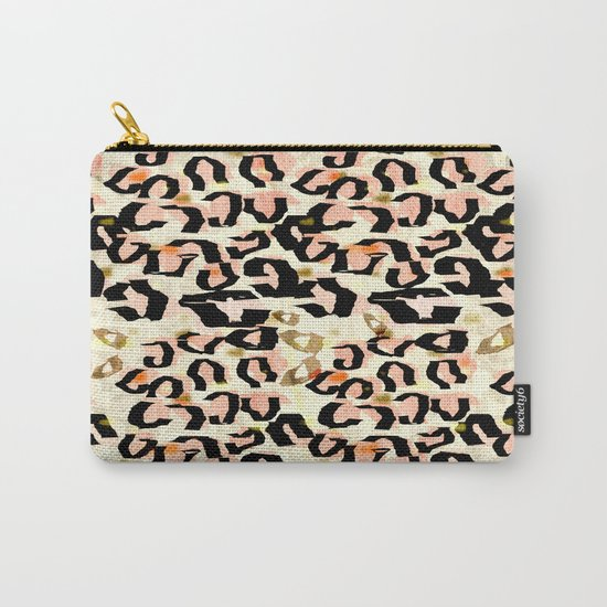 Abstract Leopard Print Carry-All Pouch