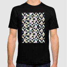 Geometric Pattern 01 MEDIUM Black Mens Fitted Tee