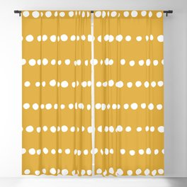 Spotted, Mudcloth, Mustard Yellow, Boho Prints Blackout Curtain