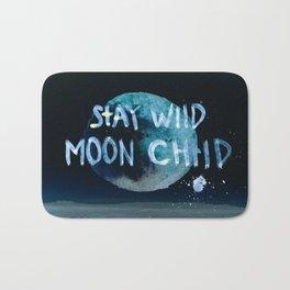 Stay wild moon child (dark) Bath Mat