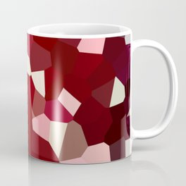 Pixeles in Red Coffee Mug
