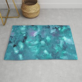 Dreamy Ocean Abstract Painting #2 #ink #decor #art #society6 Rug