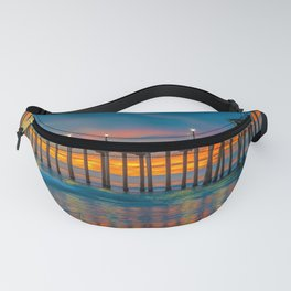 Huntington Beach Water Color Fanny Pack