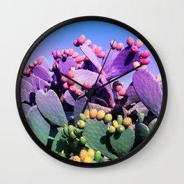 Sweet Rainbow Tropical Cactus #tropicalart #decor Wall Clock
