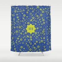 fallout Shower Curtains featuring Fallout 4 Vault 111  by LONEWLF