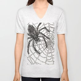 Jewelled Spider Unisex V-Neck