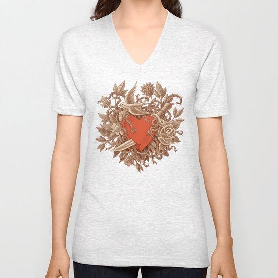 Heart of Thorns  Unisex V-Neck