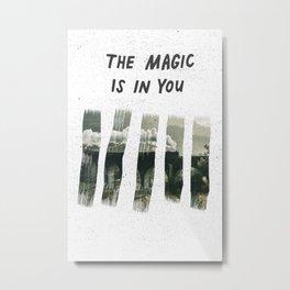 The Magic is in You-Hogwarts Train Metal Print