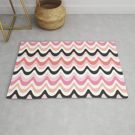 SUMMER WAVES - pink and coral Rug
