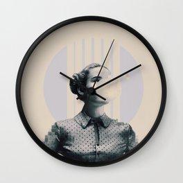 Pixels and bubblegums Wall Clock