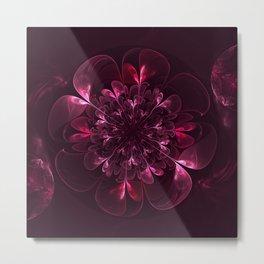 Flower In Bordo Metal Print