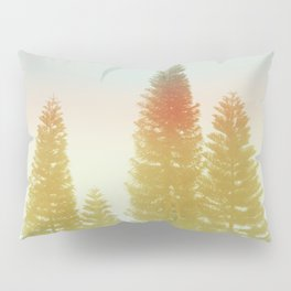 #02#Foggy pine trees Pillow Sham