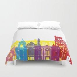 Amiens skyline pop Duvet Cover