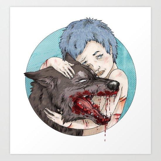 Dog-Eared Art Print