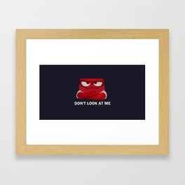 Don't Look At Me Framed Art Print